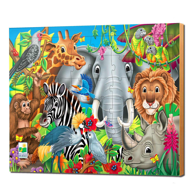 Learning Journey The Puzzle Animaux du monde Soulève & découvre 48pièces The Learning Journey International 746226 LE2001301A00113