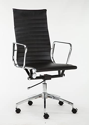 Winport Furniture Swivel Executive High Leather Office Home Desk Chair