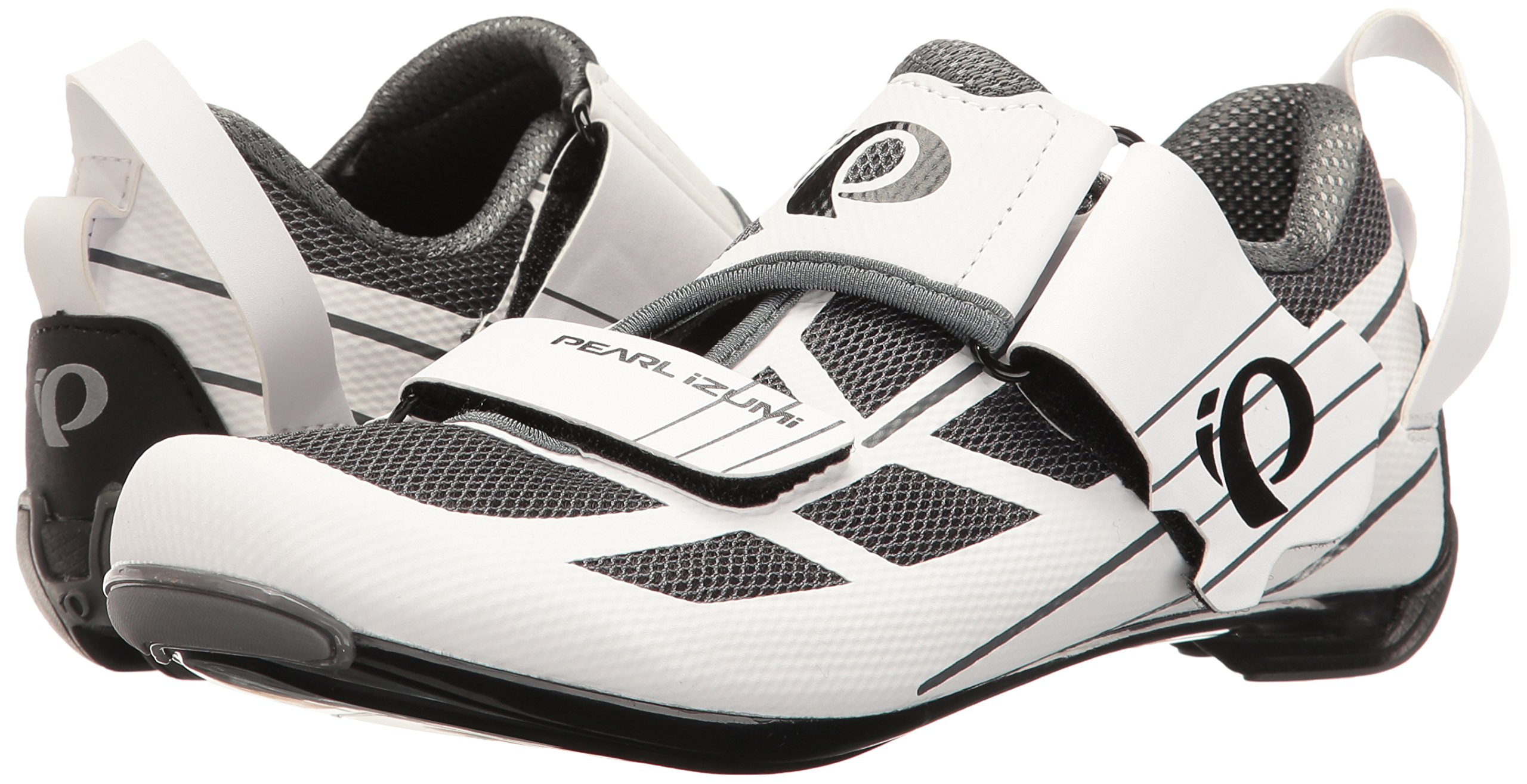 Pearl iZUMi Women's W Tri Fly Select V6 Cycling Shoe, White/Shadow Grey, 42 EU/10 B US by Pearl iZUMi (Image #6)