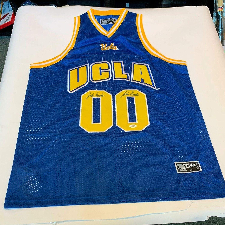 Rare John Wooden 4X Quadruple Signed UCLA Bruins Jersey JSA COA ...