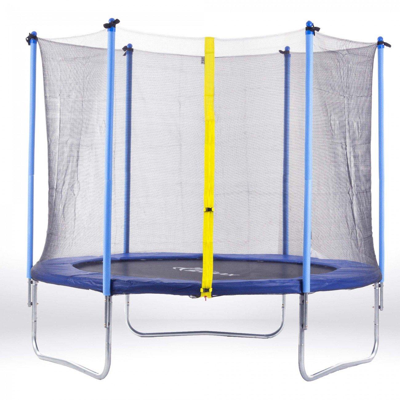 SAMAX Trampolin Gartentrampolin 3,66m (12 ft) Sicherheitsnetz blau