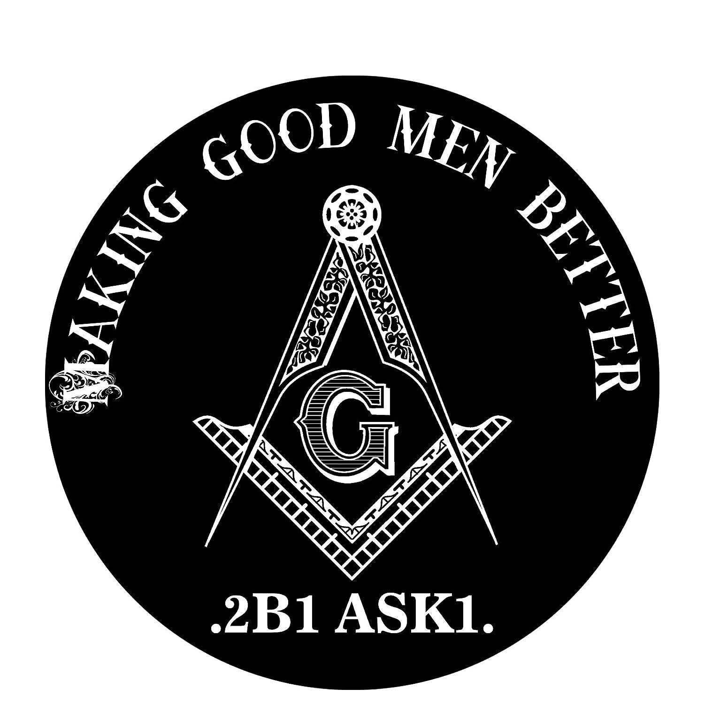 Making Good Men Better Round Masonic Bumper Sticker 4.5 Diameter