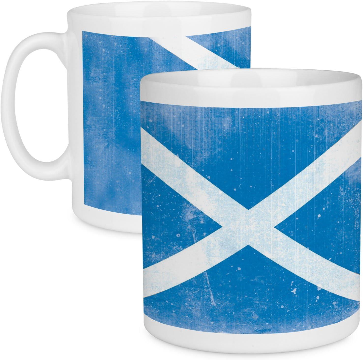 Scottish Flag MugSaltire St Andrews Cross Flag Ceramic MugScottish Gifts