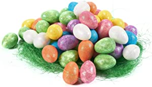 Foam Easter Egg Ornaments, Home Decor and DIY Crafts (1.5 x 1 x 1 In, 72-Pack)