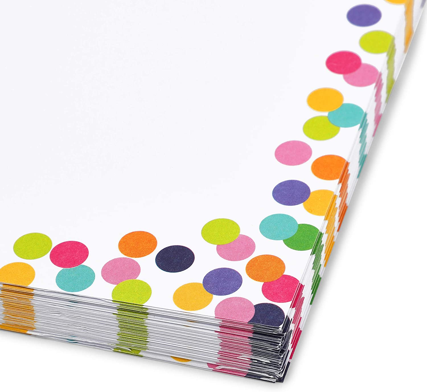8.5 x 11 Inches, 96 Sheets Confetti Stationery Paper