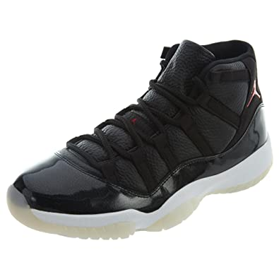 Nike Mens Air Jordan 11 Retro 72 10 quot  Black Gym Red-White 9b1121b7d