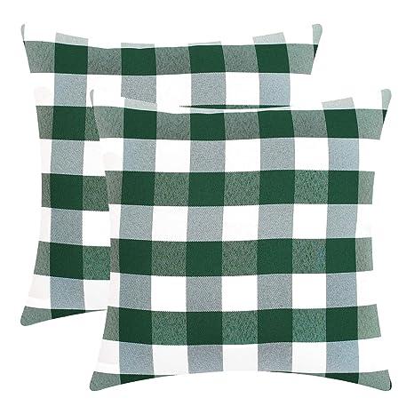 Fitows - Juego de 2 Cojines Decorativos Cuadrados para sofá ...
