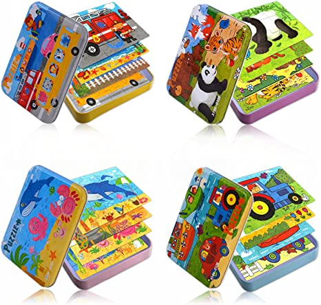 Colouring Puzzle Wedding Travel Party Toy 3 Mini JUNGLE Kids Activity BOOKS