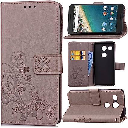 Guran® Funda de Cuero PU para LG Nexus 5X Smartphone Función de ...