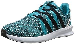 adidas Originals Women's SL Loop Racer W Sneaker,Shock Green/Black/White,6 M US