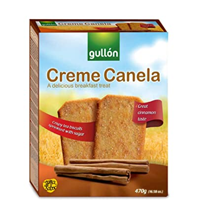 Gullón Creme Canela Galleta Desayuno y Merienda - Paquete de 2 x 235 gr - Total