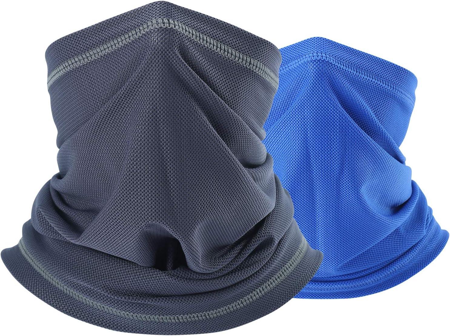 QINGLONGLIN Cooling Face Mask Bandana- Sun Protection Neck Gaiter Cover for Outdoor Cycling Hiking Fishing Men & Women