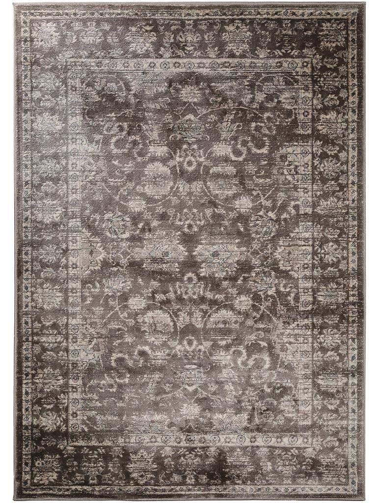 Benuta Vintage Teppich im Used-Look Velvet Braun 140x200 cm   Moderner Teppich für Schlafzimmer und Wohnzimmer