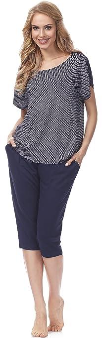 Merry Style Pijamas Mujer Verano Camisetas Pantalones MSFX598301: Amazon.es: Ropa y accesorios
