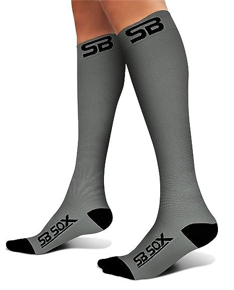 Calcetines de compresión de SB Sox (20-30 mmHg) para hombre y mujer