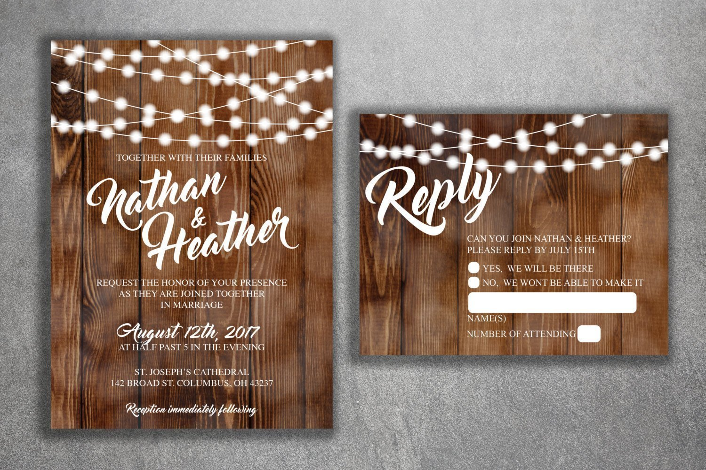 Amazon Country Wedding Invitations Set Printed Rustic Invitation Burlap Kraft Wood Lights Outside Southern: Wedding Invitations With Burlap At Websimilar.org
