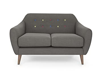 Sofa Heaven Yona Small Sofa, Contemporary Weave, Slate: Amazon.co.uk ...