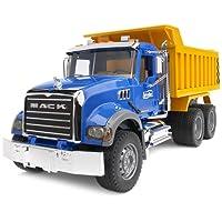 BRUDER - 02815 - Camion benne MACK - Bleu Jaune