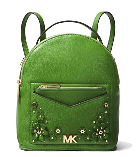 14b1d21a504e Amazon.com  MICHAEL Michael Kors Jessa Small Floral Embellished Pebbled  Leather Convertible Backpack