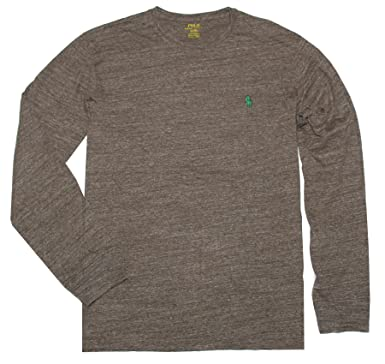Polo Ralph Lauren Men Long Sleeve Pony Logo T-Shirt at Amazon ...