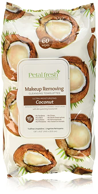Petal Fresh Brightening Coconut Ultra Moisturizing Facial Wipes, 60 Count