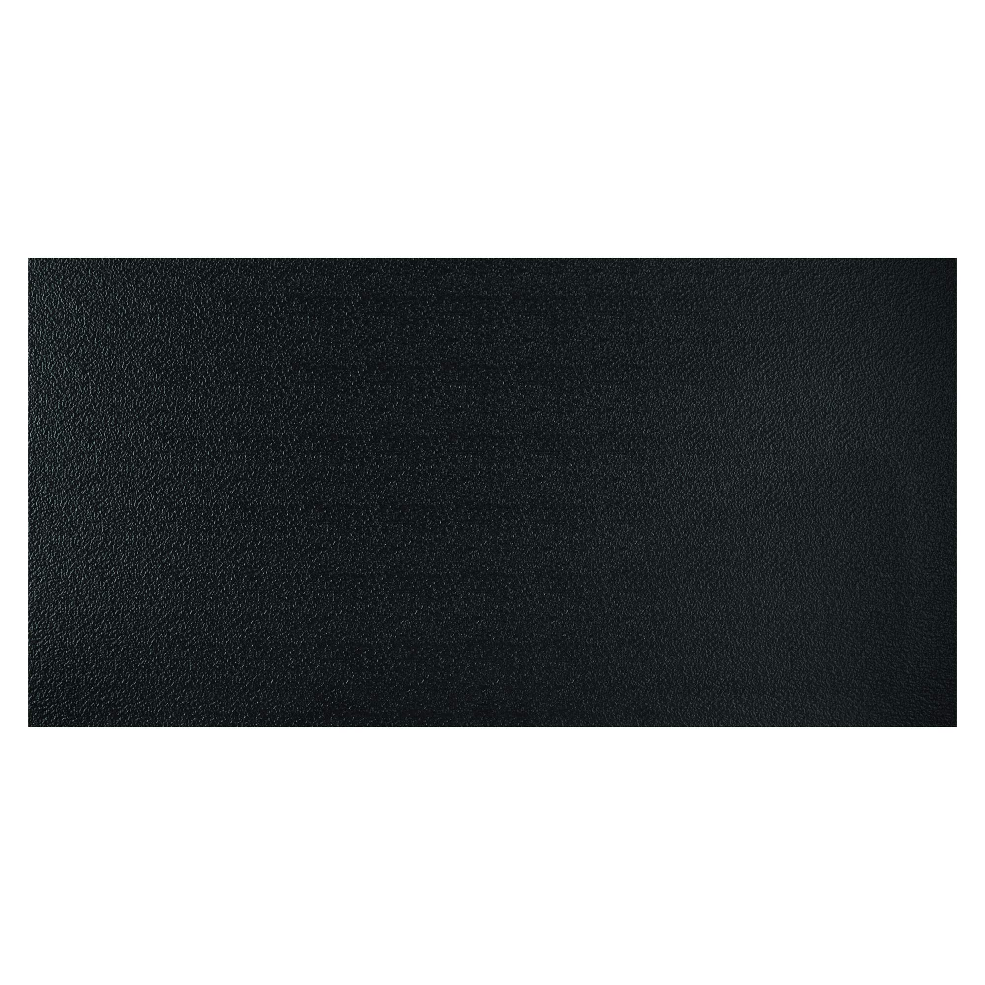 Genesis 2ft x 4ft Stucco Pro Black Ceiling Tiles - Easy Drop-in Installation - Waterproof, Washable and Fire-Rated - High-Grade PVC to Prevent Breakage - Package of 10 Tiles