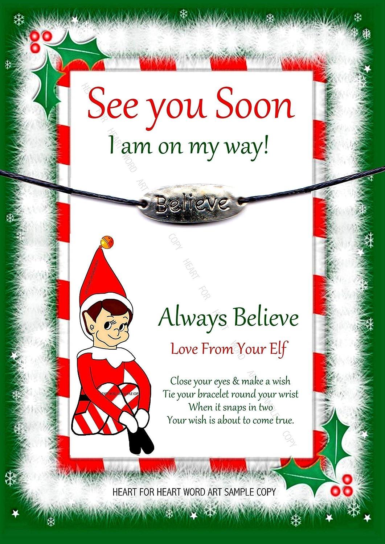 Accessory For Elf On The Shelf, Believe Charm Wishing Bracelet ...