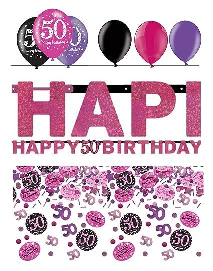 Fijo celebran guirnalda de decoración para 50 cumpleaños ...
