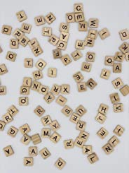 Magnetic Scrabble Tiles A-Z Educational Letters That Stick to Any Metal Surface. 100 Wooden Tiles - Full Scrabble Game. Lear