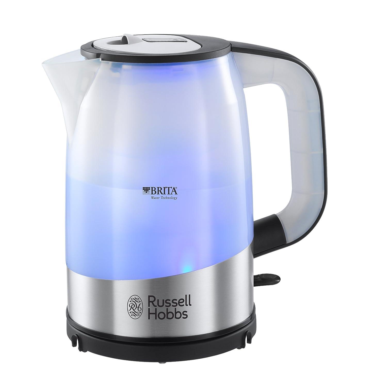 Russell Hobbs 18554-70 Purity - Hervidor, filtro MAXTRA de BRITA incluido, 2200 W, iluminación interna azul, resistencia oculta: Amazon.es: Hogar