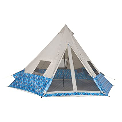 9951834f2d6 Amazon.com   Wenzel Shenanigan 8 Person Tent-Blue GEO Print   Sports    Outdoors