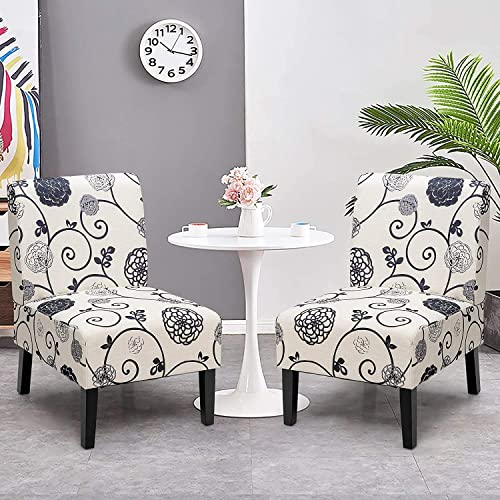 LDAILY Fabric Armless Accent Chair