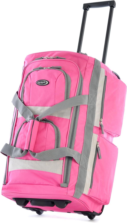 Olympia 8 Pocket Rolling Duffel Bag