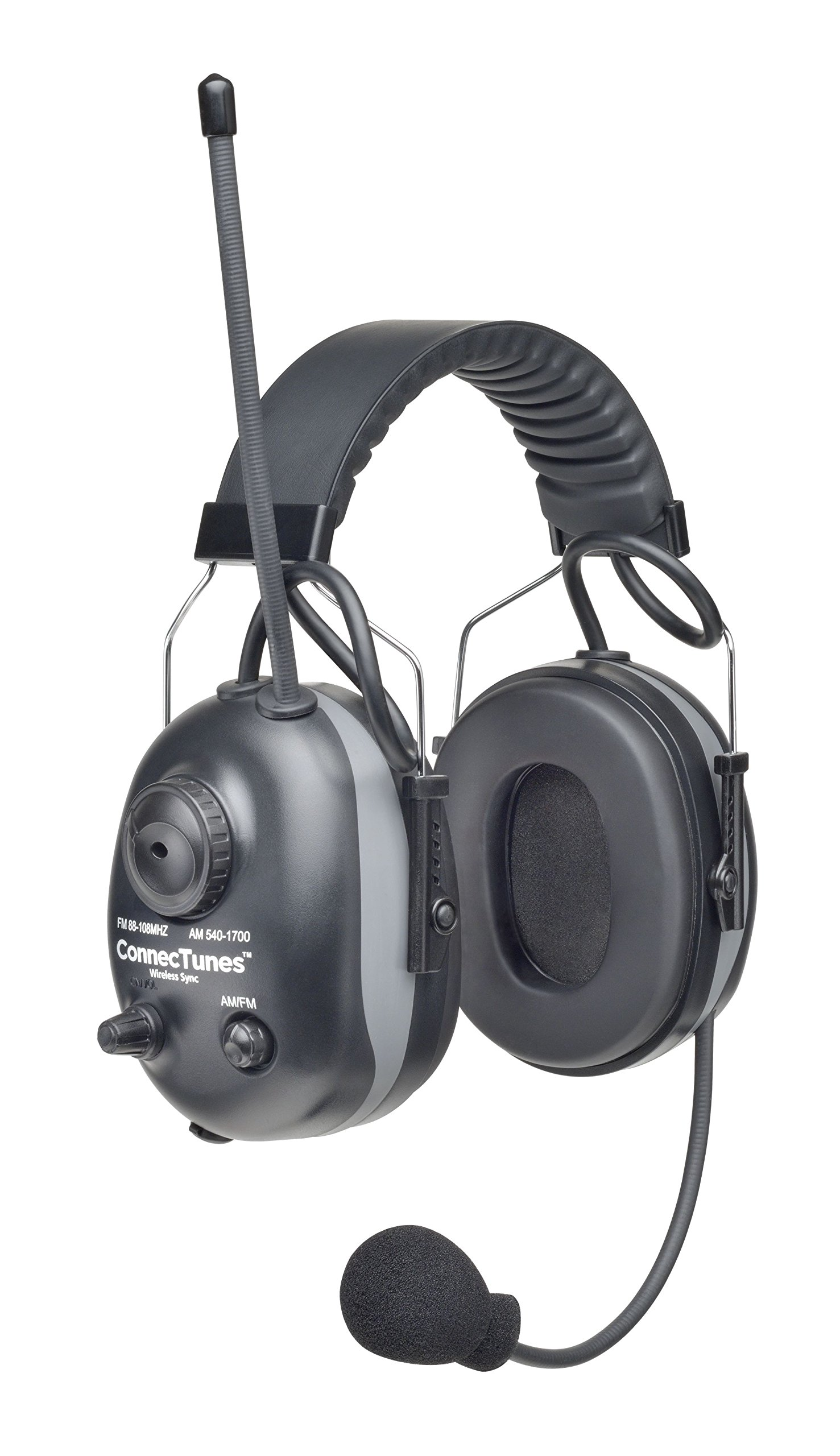 Elvex COM-660W ConnecTunes Wireless Pairing Ear Muff, Black