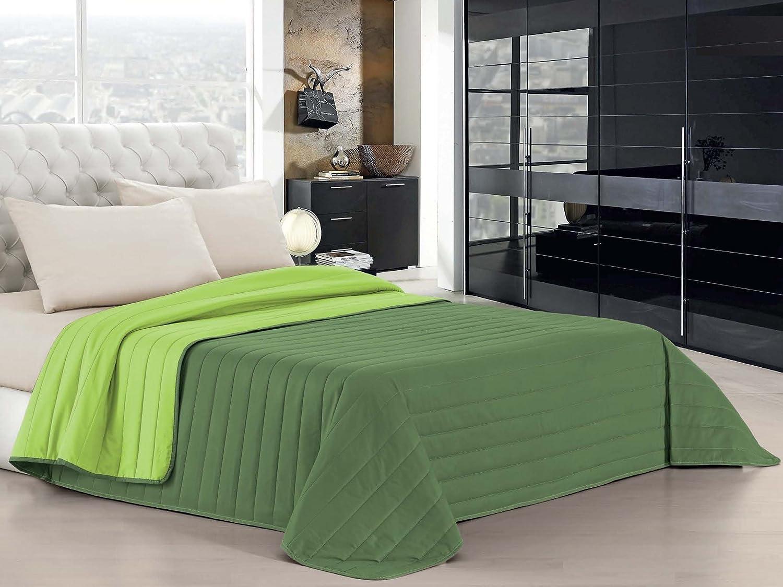 Datex Colcha de verano Elegant Verde manzana/Verde oscuro 1 plaza (170 x 270 cm)