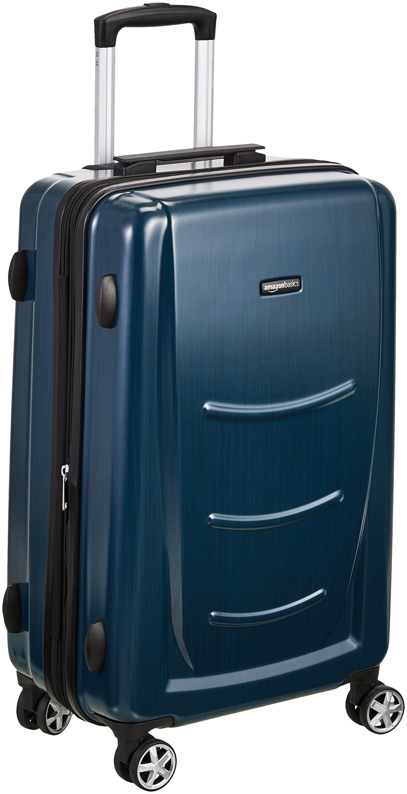 AmazonBasics Hard Shell Carry On Spinner Suitcase Luggage - 28 Inch, Navy Blue by AmazonBasics