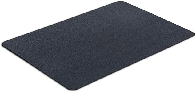 "VersaTex Multi-Purpose Rubber Floor Mat for Indoor or Outdoor Use, Utility Mat for Entryway, Home Gym, Exercise Equipment, Tool Box Liner, Garage, Under-Sink, Patio, and Door Mat; 24"" x 36"", Black"