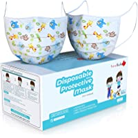 TRAVELSAFE - 50Pcs Kids Face Mask - 3 Ply Protective Earloop Breathable & Comfortable Disposable Children Masks…