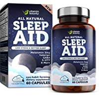 Vitamin Bounty Natural Sleep Aid - with 7 Scientifically Proven Ingredients Including...