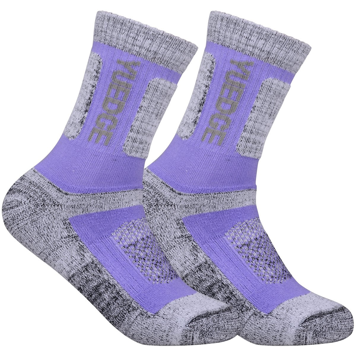 YUEDGE 3 Pairs Women's Women's Wicking Cushion Crew Socks Performance Workout Athletic Sports Socks (L) by YUEDGE (Image #4)