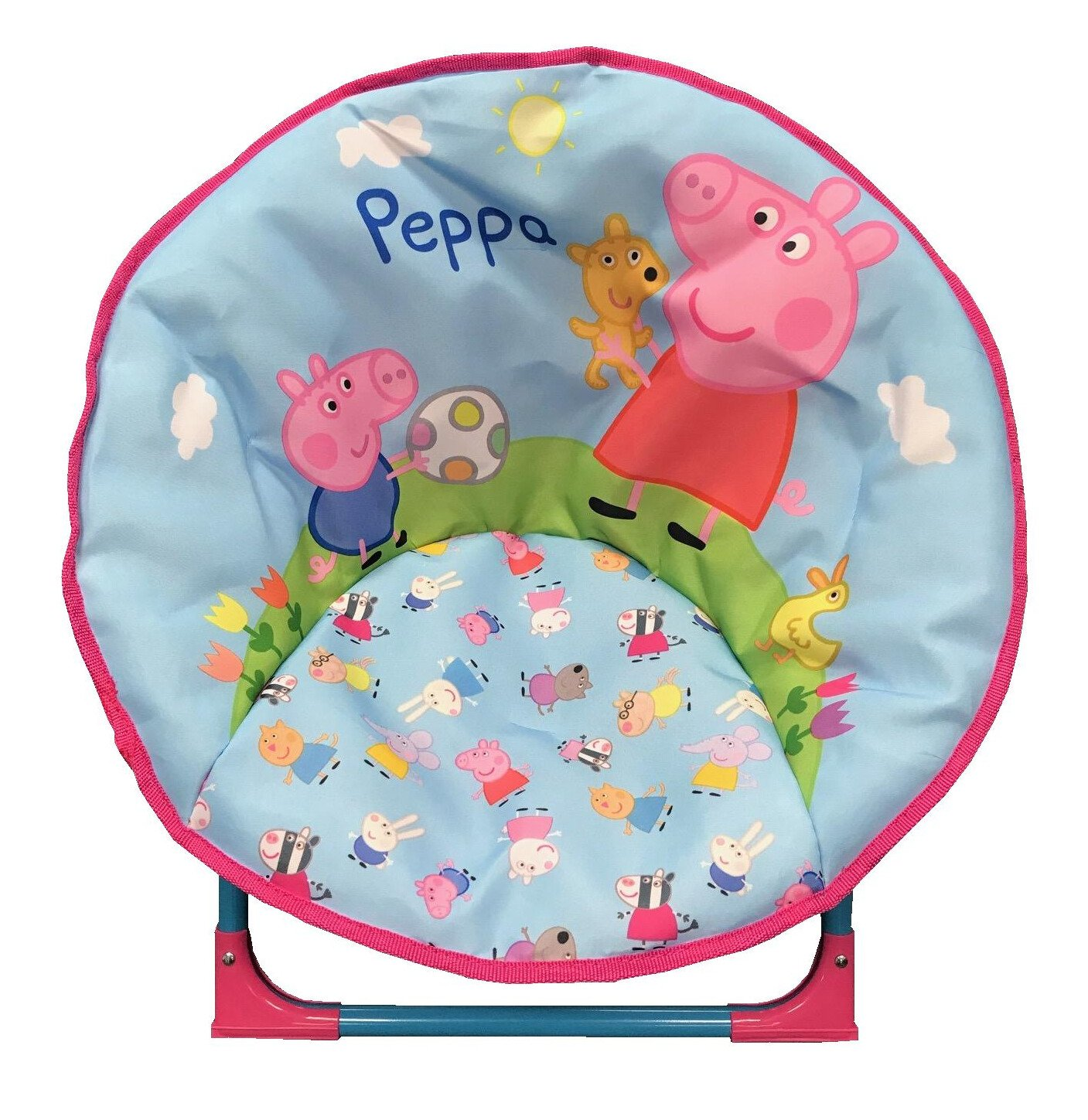 just4baby Kids Children Foldable Bedroom Play Room Moon Chair Moonchair Peppa Pig Design