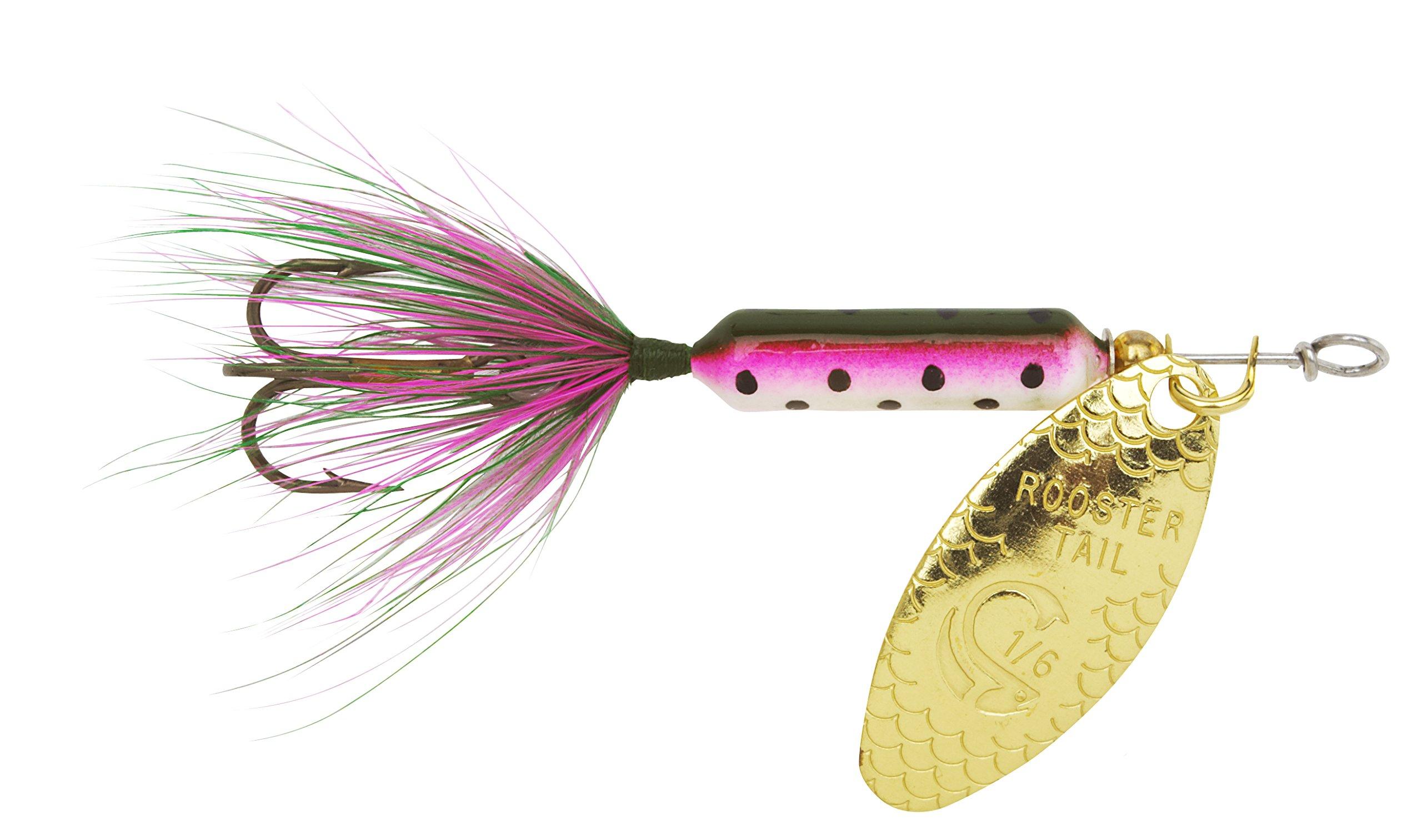 Yakima Bait Wordens Original Rooster Tail 1/16oz Spinner Lure, 3 Pack- Rainbow by Yakima Bait