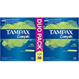 Tampax Compak Super 36 Tampons avec Applicateur en Plastique