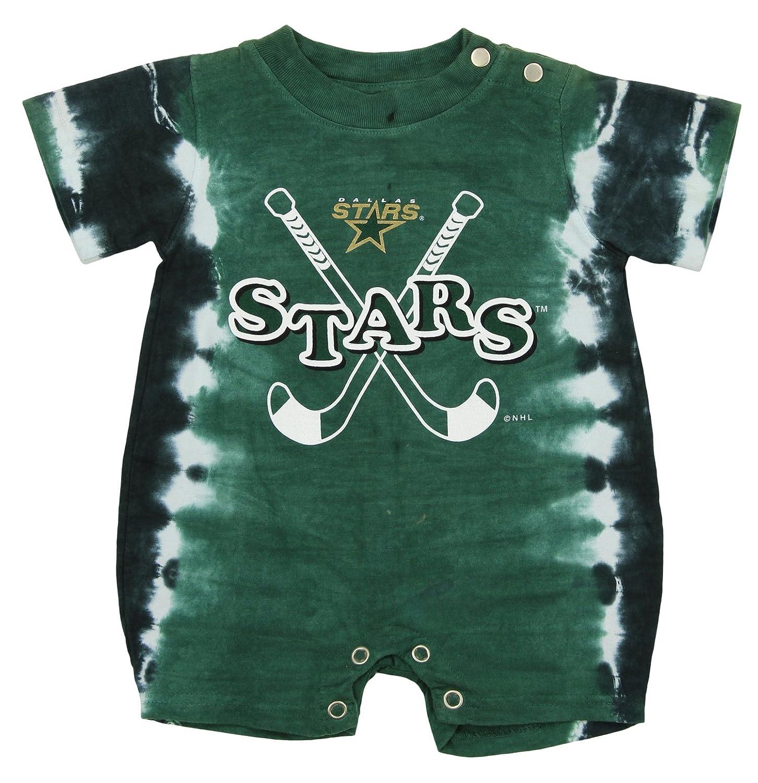 (6-9 Months) - Dallas Stars NHL Baby Boys Infant Retro Tie-Dye Romper, Green   B01FSXIOPG