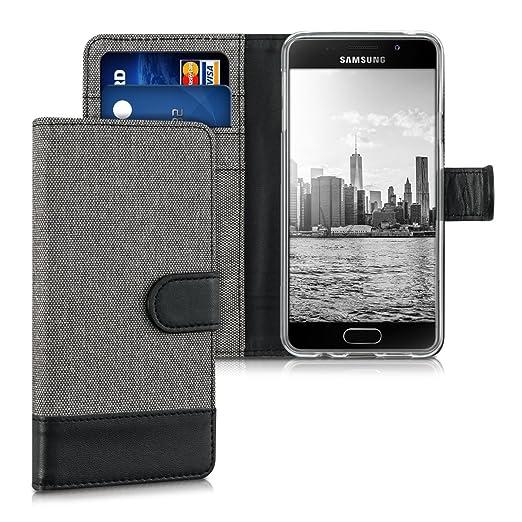 7 opinioni per kwmobile Custodia portafoglio per Samsung Galaxy A3 (2016)- Cover in simil pelle
