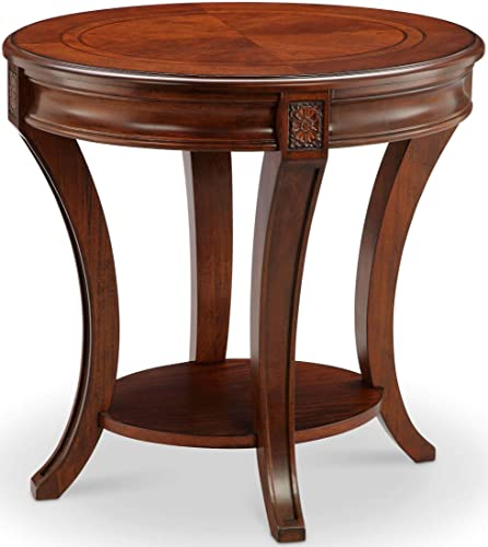Magnussen Winslet Oval End Table, 25 x 22 x 26