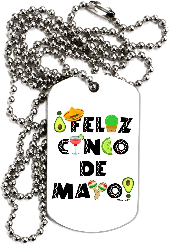 TOOLOUD Feliz Cinco de Mayo Fiesta Icons Adult Dog Tag Chain Necklace