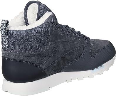 Reebok Cl Lthr Arctic Boot, Zapatillas de Deporte para Mujer, Azul (Smoky Indigo