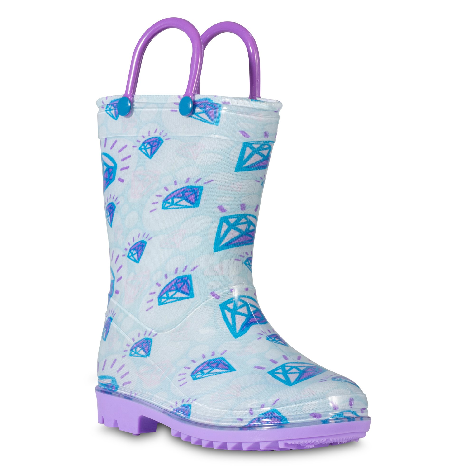 Zoogs Kids Rainboots, Waterproof, Pull Handles, Fun Prints, Anti-Slip