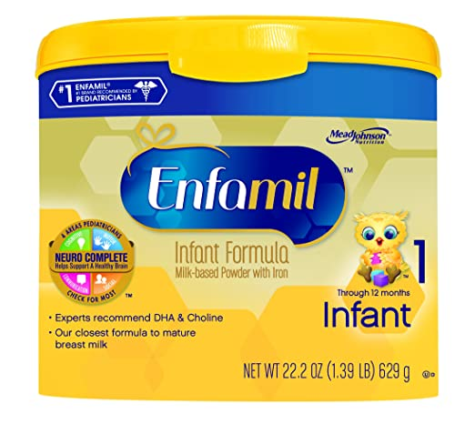 Enfamil  Infant Baby Formula - 22.2 oz Powder in Reusable Tub